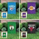 Choose Your NBA Basketball Team Applique Embroidered Garden & Window Flag Banner