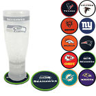 New 4pcs Set NFL Pick Your Team Heavy Duty Rubber Vinyl Coasters