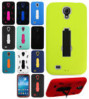 For Samsung Galaxy Mega 6.3 IMPACT Hard Rubber Case Snap Phone Cover Kickstand