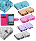 For Huawei H881C ACE Ascend Y300 Premium Bling Diamond Wallet Case Pouch Cover