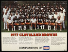 1977 CLEVLAND BROWNS TEAM PHOTO 9 X 12 VINTAGE RARE FOAM BACKING