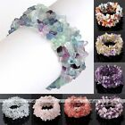1 Strand Natural Crystal Quartz Gemstone Chip Bead Handknitted Stretchy Bracelet