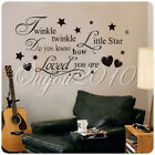 DIY Twinkle Little Star Vinyl Word Quote Kid Wall Decal Bedroom Removable Decor