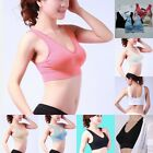 TV~1PCS Lace Elastic Fitness Yoga Seamless Sports Bra Genie Racerback 40-42""