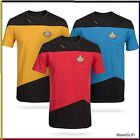 STAR TREK TNG The Next Generation STARFLEET UNIFORM T SHIRT Red Gold Blue Tee