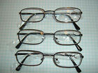 3 pair wholesale LIGHT EASY WEAR READING GLASSES Mens rectangle compact reader