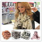 Sexy Women Lip Marilyn Monroe Head Print Scarf Shawl Wraps Shades Chiffon NoFUYF