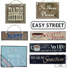 Vintage Wooden Signs For The Home - Distressed Rustic Shabby Chic Plaques