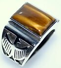 Tigers Eye Gem Sterling SILVER Mens Ring Gents 925 NEW Sizes L to Z+5; 5½ to 15