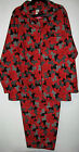 Nwt Joe Boxer Plus Size Womens 1X 3X Red Flannel Scottie Dog Pajamas Sleepwear