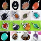 1pc Copper Wrap Oval Gemstone Bead Pendant Finding For Necklace Jewellery Gift