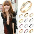Women's Fashion Buckle Style Feax/PU Leather Bangle Bracelet 13 Color Choose