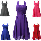 5Color+8Size Halter Short Homecoming Evening Prom Dress Bridesmaid Cocktail Gown