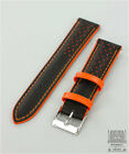 LEATHER RACING / SPORTS WATCH STRAP GENOA COLOUR CONTRAST
