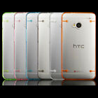 Transparent Clear Slim TPU Gel Skin Case Cover fr HTC One M7 w/ Screen Protector