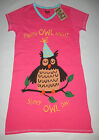 Womens Owl Nightshirt Night Shirt Funny Sleepshirts Nightgown Lazy One Sleepwear