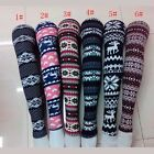 Fashion Women's Xmas Snowflake Reindeer Knitted Tights Pants Warm Leggings 1984