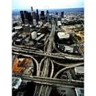 'Los Angeles, California Downtown and Freeway Interchange' Photography Wall Art