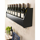 Floating Black Wine Rack