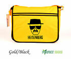 BREAKING BAD HEISENBERG WALTER WHITE DESIGN Retro Messenger Bag  - Gold