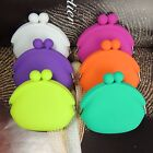 Round Coin Purses Rubber Silicone Wallet Glasses Cosmetic Coin Bag Case New
