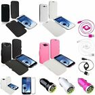 Flap Leather Case Cover+3in1 Combo Accessory For Samsung Galaxy S3 III I9300
