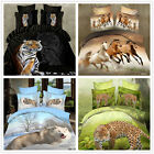 Jungle Animal Queen Size Bed Quilt/Duvet Cover Set New 100% Polyester Linen 4PCS