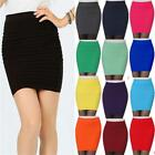 New Women Girls Slim Stretch Bodycon Bandage Micro Mini Skirt One Size Fit 6-14