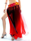 New Belly Dance Costume 2 Side Slits 2 Layers Sexy Gradient Skirt/Dress 6 colors