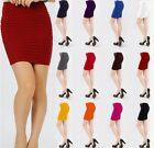 New Sexy Women's Striped Mini Skirt Above knee Clubwear Short Pencil Slim Dress