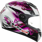LS2 FF352 FLUTTER WHITE PINK PURPLE FULL FACE MOTORCYCLE MOTORBIKE CRASH HELMET