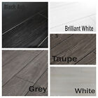 New 8mm Laminate Flooring In White Or Grey V Groove Bevel Edge Cheap Discount
