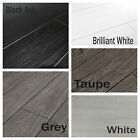 New 8mm Laminate Flooring In White Black Grey V Groove Bevel Edge Cheap Discount