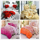 Beauty Floral Queen Size Bed Quilt/Doona/Duvet Cover Set New 100% Polyester 3Pcs