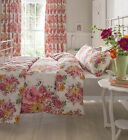 Catherine Lansfield Izzy Bright Floral Flower Reversible Pink Yellow Bedding