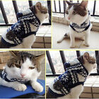 Pet Dog Snowflake Sweater Cat Coat Hoodies Winter Warm Dogs/Cats Clothes