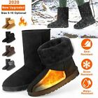 Women's Winter Boots Warm Faux Fur Suede Mid Calf Fashion Snow Boot US Size 5-10