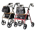 Lightweight Folding Rollator 4 Wheel Walker Mobility Walking Frame Disabled Aid
