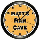 MAN CAVE WALL CLOCK PERSONALIZED PITTSBURGH STEELERS FOOTBALL WALL DECOR SPORTS