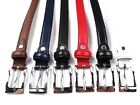 QUALITY LADIES GIRLS SKINNY GENUINE LEATHER BELT DESIGNED BY MILANO 5 COLOURS