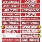 15 Inch Red & White Sign Stickers (multiple item shipping discount)