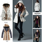 NEW Vogue Women's Thicken Fleece Warm Winter Coat Parka Outerwear Fur Jacket