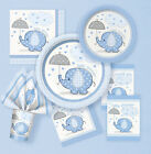 BABY SHOWER UMBRELLAPHANTS BLUE BOY PARTY  TABLEWARE DECORATIONS TABLECOVER