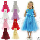 FLOWER GIRL DRESS Bridesmaid Dress GIRLS Formal Party Dress BIG BOW 1-10 Y (KK)