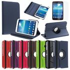 """360 Degree Rotating PU Leather Case Cover For Samsung Galaxy Tab 3 8 8.0"""" Tablet"""