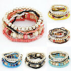 HOT SELL Faashion Women's Bohemian Style Crystal Beads Bracelets Wholesale