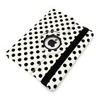 Polka Dot 360 Rotating Swivel Case Cover Stand Protector Spotty for iPad 2 3 4