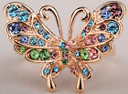Multi-color crystal butterfly ring 5;big discount order $100+,size selectable