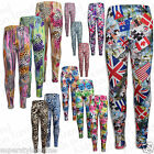 Girls Leggings Fashion Leggings Floral Design Animal Print Leopard 7-13 Years