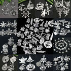 Lot Mixed Tibetan Silver Charm Beads Pendant Jewelry Making Findings DIY Craft